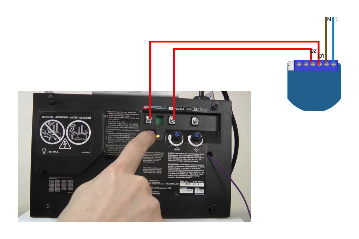 Z Wave Garagedoor Opener With Qubino Flush 1d Relay And